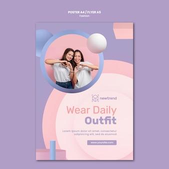 Вертикальный шаблон флаера для розничного магазина модной одежды