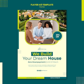 Vertical flyer template for new family home