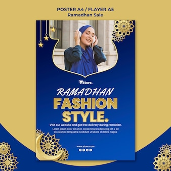 Vertical flyer template for ramadan sale