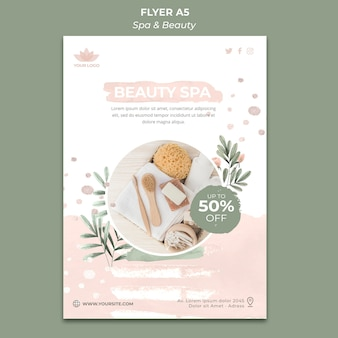 Vertical flyer template for spa and relaxation