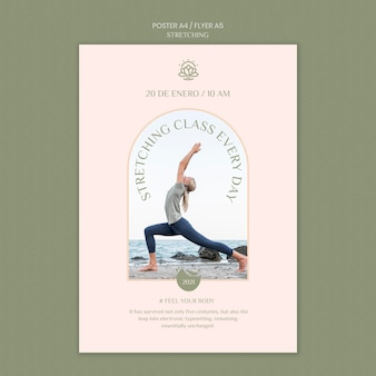 Vertical flyer template for stretching course
