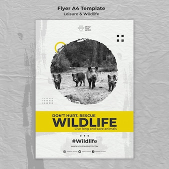 Vertical flyer for wildlife and environment protection