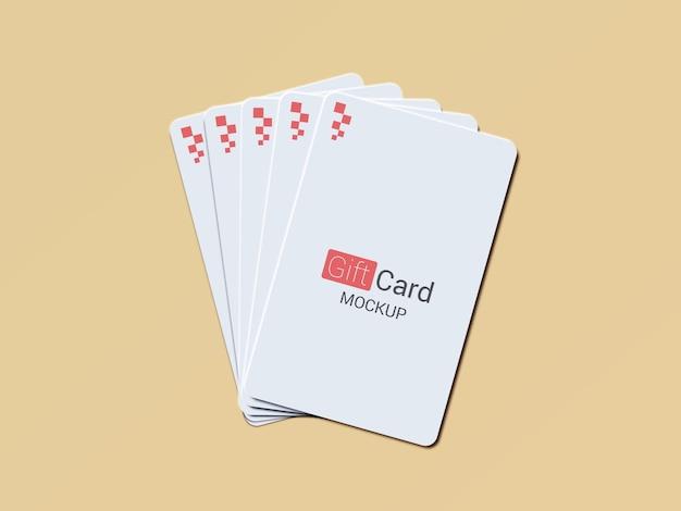 Vertical gift card mockup design