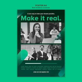 Poster gradiente verticale per carriera aziendale