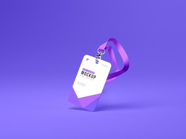 Vertical id cards holder mockup