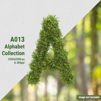 Vertical letter of garden tree