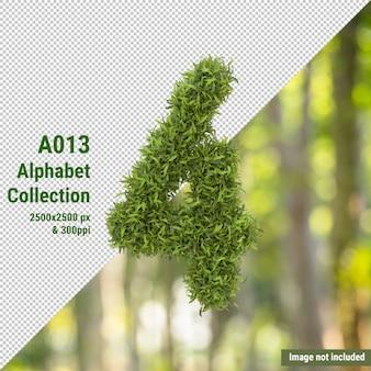 Вертикальный номер садового дерева