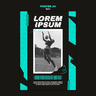Vertical poster for american football game