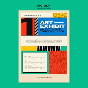 Vertical poster for art exhibition