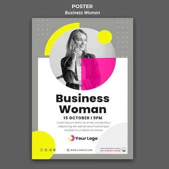 Vertical poster for businesswoman