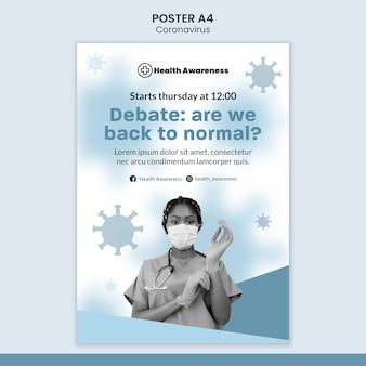 Poster verticale per pandemia di coronavirus