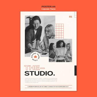 Vertical poster for corporate studio