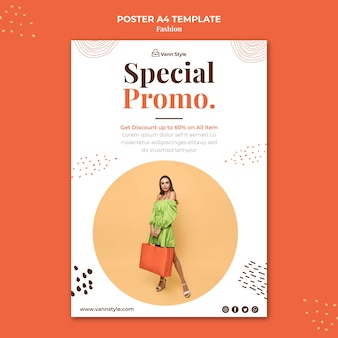 Vertical poster for fashion shopping store