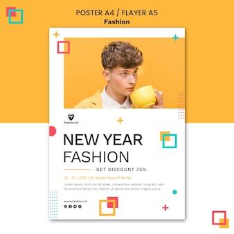 Poster verticale per la moda con modello maschile