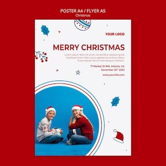 Вертикальный плакат на рождество