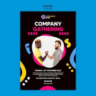 クリエイティブな企業チームのための縦のポスター