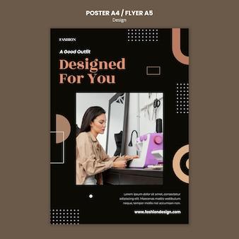 ファッションデザイナーのための縦のポスター