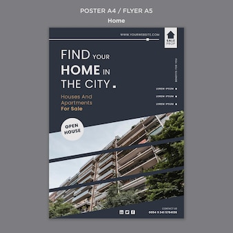 完璧な家を見つけるための縦型ポスター