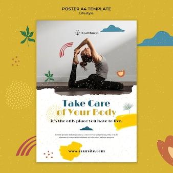Вертикальный плакат для здорового образа жизни