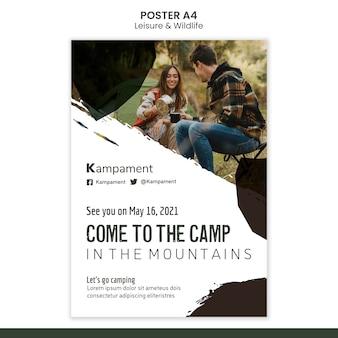 자연 탐험과 여가를위한 수직 포스터
