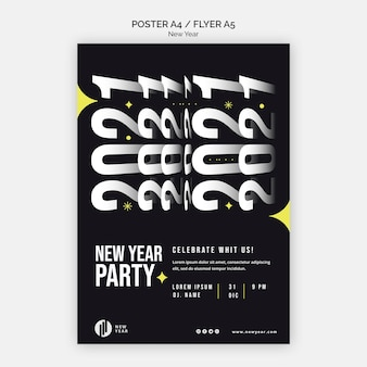 Вертикальный плакат для новогодней вечеринки