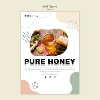Вертикальный плакат для чистого меда
