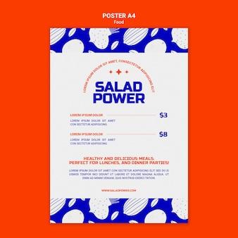 샐러드 파워를위한 수직 포스터