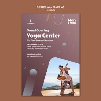 Вертикальный плакат для практики и упражнений йоги