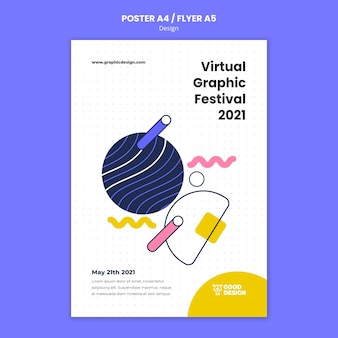 Vertical poster for graphic design