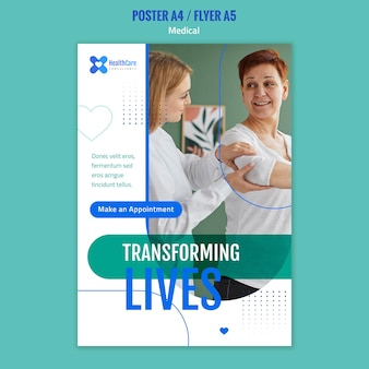 Vertical poster for healthcare