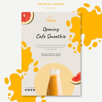 Vertical poster for healthy fruit smoothies