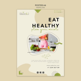 Vertical poster for healthy nutrition