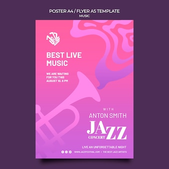 Poster verticale per festival e club jazz