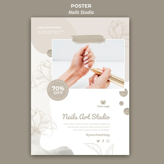Vertical poster for nail salon