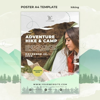 Vertical poster for nature hiking