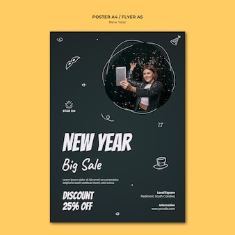 Vertical poster for new years party