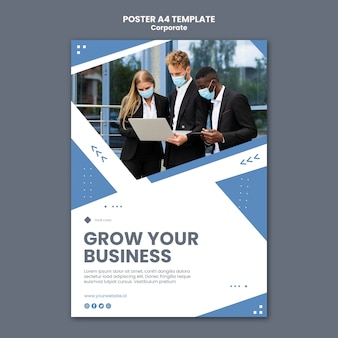 Vertical poster for professional business
