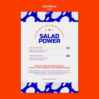 Vertical poster for salad power