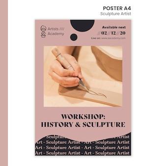 Poster verticale per laboratorio di scultura