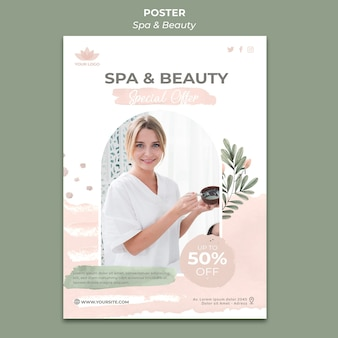 Vertical poster for spa and relaxation