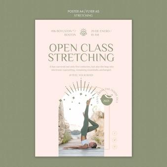 Poster verticale per corso di stretching