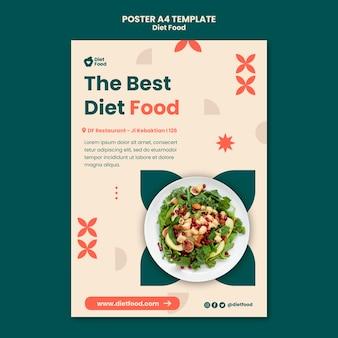 Modello di poster verticale per alimenti dietetici