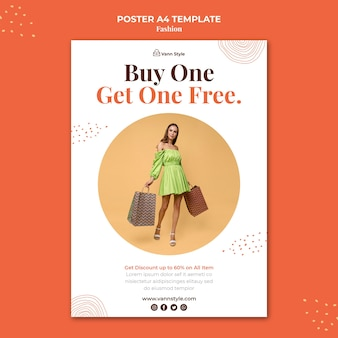 Vertical poster template for fashion shopping store