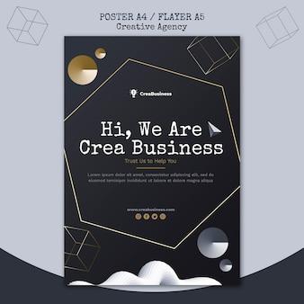 Вертикальный шаблон плаката для компании-партнера