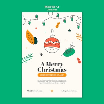 Вертикальный шаблон плаката на рождество