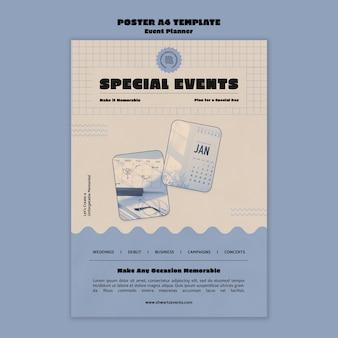 이벤트 플래너용 세로 포스터 템플릿