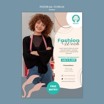 ファッションコレクションの縦のポスターテンプレート