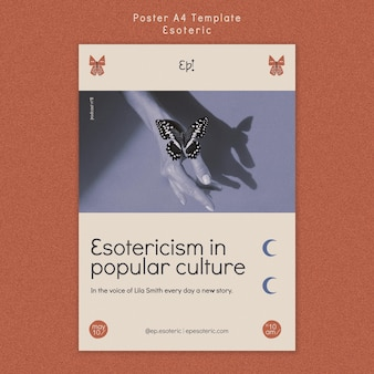 Вертикальный шаблон плаката для мистики и эзотерики