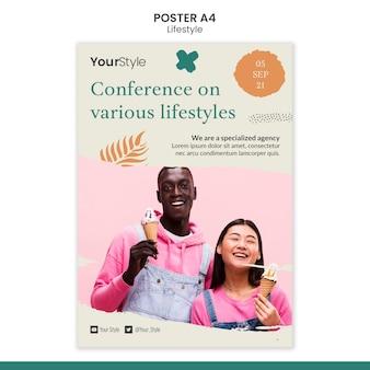 Вертикальный шаблон плаката для личного образа жизни