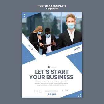 전문 비즈니스를위한 세로 포스터 템플릿